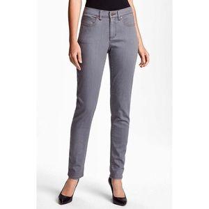 Like New! Eileen Fisher grey skinny jeans size 14